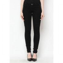 Mobile Power Ladies Slim Fit Stud Jeans - Black Y2330L