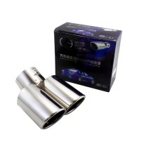 Autofriend AI-A-207 Exhaust Muffler Mobil for Universal - Chrome
