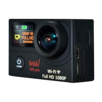 Bella Vision W8 Pro Action Cam - Black [Full HD/1080P/2 Inch LCD/WiFi]
