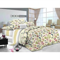 Pantone Qudeisha Bed Cover 260 x 230 Double Size - 100 % Berbahan Microtex