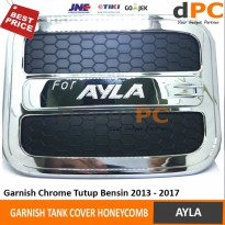 Tank Cover Mobil Toyota AYLA Honeycomb | Garnish Tutup Bensin iCON