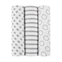 Ideal Baby Pint Muslin Swaddles [3 Pack]