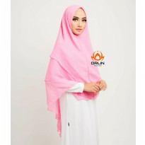 ORLIN NEW KHIMAR POLOS SYIRIA TIGA LAYER MATT CHIFFON JUMBO BY INDOHIJAB GROSIR