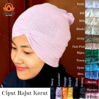ORLIN INNER KUPLUK RAJUT KERUT ANTI PUSING ALL SIZE BY INDOHIJAB GROSIR