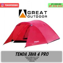 Great Outdoor Java 4 Pro Tenda Camping Kap 4 Orang Double Layer Kuat
