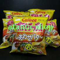 Calbee Potato Chips Shiawase Happiness Honey Butter / Snack Import Jepang