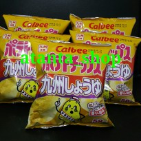 Calbee Potato Chips Kyushu Soy Sauce / Snack Import Jepang