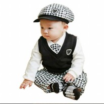 Spunky Kids-Tuxedo Classic-5in1-Black and White-Baby Boysets