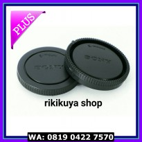 (Sale) body cap & lens rear cap e mount (sony nex, sony alpha)