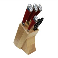 Pisau Atria Grande Kitchen Knife Set Wooden Stander 6 pcs