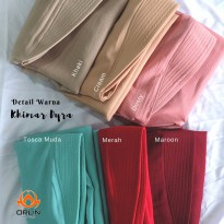 ORLIN KHIMAR DYRA KRIWIL BAHAN BUBBLE CREPE POLOS BY INDOHIJAB GROSIR