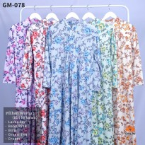 ORLIN GM-078 GAMIS MOTIF BAHAN MISBY STRETCH BUSUI ALL SIZE