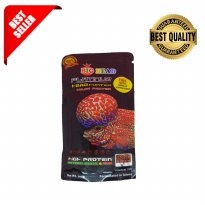 Okiko. Pelet Ikan Louhan Big Head Platinum. Hi Growth Protein, Quick Red Head Mark Impor