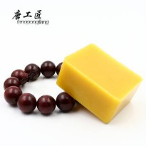 [globalbuy] About 100g Natural Beeswax Text String Playing Hand Carved Wooden Carving Maho/3747767