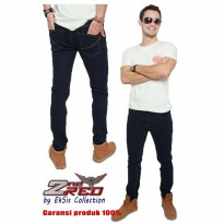 2Nd Red Jeans Slim Fit/Celana pria jeans straight/Jeans pria terlaris/Celana Denim-Blue Black 133205
