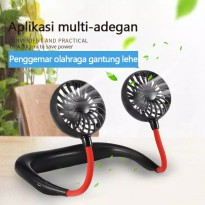 Kipas angin gantung leher portable lazy neck fan usb charge