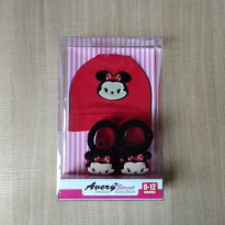 Avery Street Kaos Kaki + Topi Minnie Mouse