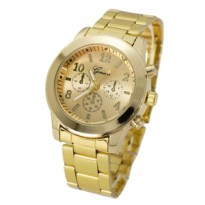Geneva Fashion Watch - Jam Tangan Fesyen  Gold