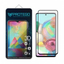 Tempered Glass Samsung Galaxy A71 Protego 3D Full Cover Screen Protector - Black