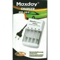 Charger Baterai AA/AAA Maxday MD-201 - Cas 4 Batre A2/A3