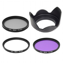 Filter UV CPL FLD Lens Hood 58mm For All Canon 400d 350d 100d 550d 500d 1000 - LF136