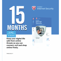 McAfee Internet Security 2016 For 3 PC License 15 Months