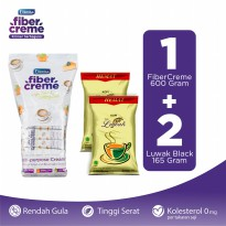FiberCreme Grab and Go 600gr + 2 Pcs Kopi Luwak Super Hemat Black Coffee Bag 165gr