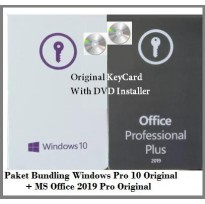 Windows 10 Pro Original + Office 2019 Original Key Card