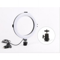 LED Ring Light 8 Inch Stand 3 Color Dimmable For Selfie Vlogging Bonus Tripod Stand