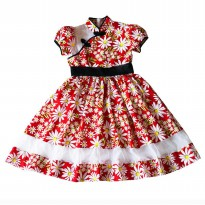 ~Cutevina~ Ficalica Cheongsam Red Floral Dress FC0031 (6-8 th)