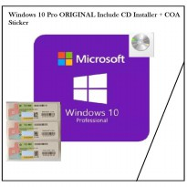 Windows 10 Pro Original with COA Sticker + CD Installer