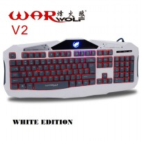 Warwolf V2 White - 3 Backlight Gaming Keyboard