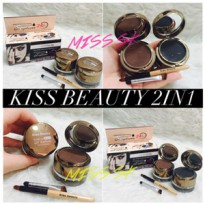 Kiss Beauty 2in1 ( gel eyeliner + eyebrow )