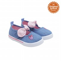 90 Years of Magic Disney Minnie Mouse Baby Girl Mary Jane Shoes Denim