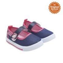 Hello Kitty Baby Girl Mary Jane Canvas Shoes Navy
