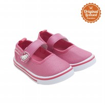Hello Kitty Baby Girl Mary Jane Canvas Shoes Fuchsia