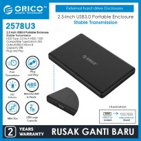 ORICO HDD SSD Enclosure 2.5 inch USB3.0 - 2578U3