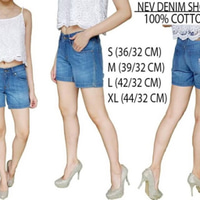 NEVADA DENIM SHORT JEANS / BIRU /JEANS HALUS