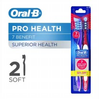 ORAL B Sikat Gigi Cross Action Pro-Health 7 Benefit Soft 2s
