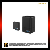 Dual Battery Charger + Battery for GoPro HERO 5 - Black