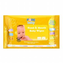 Pure Baby Hand And Mouth Wipes Tissue Basah Orange isi 60s