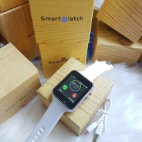 jam tangan wanita Smart Watch 01M semi premium plus box (BLACK)