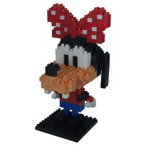 LDL 124 Action Figure Nano Blocks World Series Goofy Girl