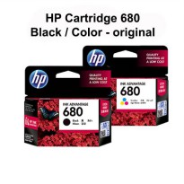 Cartridge Tinta HP 680 (Black/Color) Original