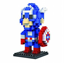 LDL 116 Action Figure Nano Blocks World Series Captain America