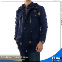 Jaket Gunung Parka Kanvas Original Distro for Men - Navy