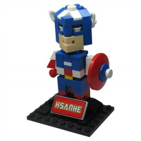 HSANHE BLOCK 6324 Action Figure Cube Nano Micro World Series Captain America