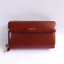 HANDBAG TAS TANGAN PRIA KULIT IMPORT BRANDED | BALLY 602B BROWN