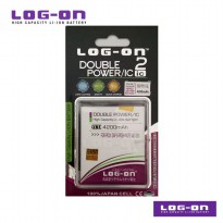 LOG-ON Battery For Polytron ZAP 6 Posh Note 4G 551 - 4200mAh DoublePower & IC - Garansi 6 Bulan