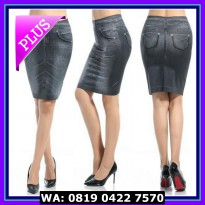 (Murah) SHAPE SKIRT JEANS, DENIM, ROK MINI, ROK SPAN ~ CARESE /